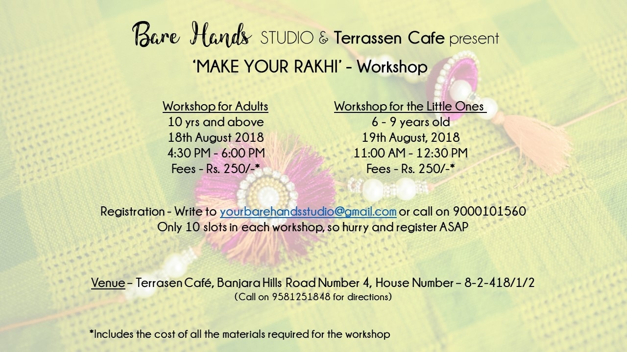 karuna's Bare Hands studio wants to re-invent how we gift , create and connect .   Terrassen is extremely happy to host a