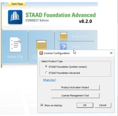 STAAD Foundation Advanced Connect EditionThe Foundation Design workflow has been simplified to just use STAAD Foundation Advanced and with the STAAD.Pro license get access to the current version of some basic foundation design or use a full STAAD Foundation Advanced license to get access to the full unrestricted designs and capabilities.
