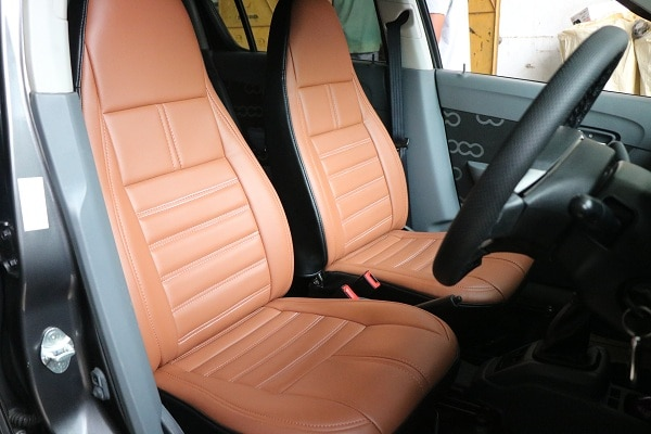 Installed seat cover