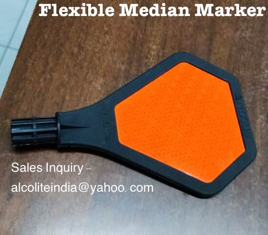 Flexible Median Marker by ALCOLITE Sales Inquiry -alcoliteindia@yahoo.com #9096089298   traffic rules road signs traffic signs and symbols convex mirror traffic signals pdf traffic signals chart