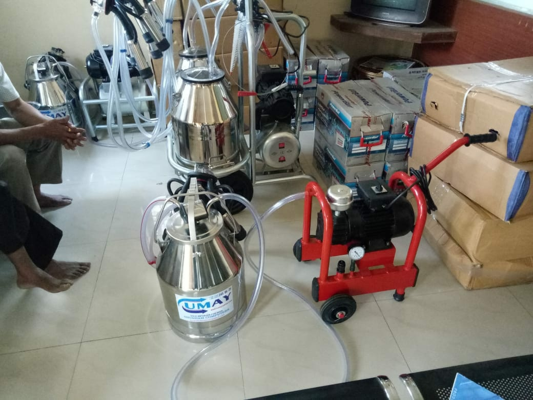 Facing Labour Problem In Your Dairy Farm, WhyTo Worry , Set The Umay Milking Machine And Increase The Standard Of Your DairyFarm We Krishna Industries Are The ReliableManufacturer Of Cow & Buffalo Milking Machine & Its Spare Parts . Key Features Of Umay Single Bucket MilkingMachine :- 30 Liter SS Bucket 240 CC Heavy Claw Food Grade Liner 1Hp Monoblock Motor 200 LPM Vaccum Pump Dry Pump (No Maintenance) Food Grade Milking Pipe Galvanized Paint Trolly (Chances Of Rust VeryLess) 10-12 Cows/ Buffalo Milking Per Hour Easy To Operate Made In Turkey Economical In Price 3 Years Service We Can Deliver The Machines To Anywhere With In IndiaFor Watching The Live Video Of Single BucketMilking Machine , Check These You Tube Links. https://youtu.be/4WSgcyxxyoEhttps://youtu.be/2usulG2RbvUhttps://youtu.be/k2-V-xjq5nQhttps://youtu.be/p4j4y6LcbyYhttps://youtu.be/Q8ibd63we14For More Details Regarding Milking MachinesCall Our Helpline Numbers  9897501589 , 750012200 Between 10:00 AM - 6:00 PM
