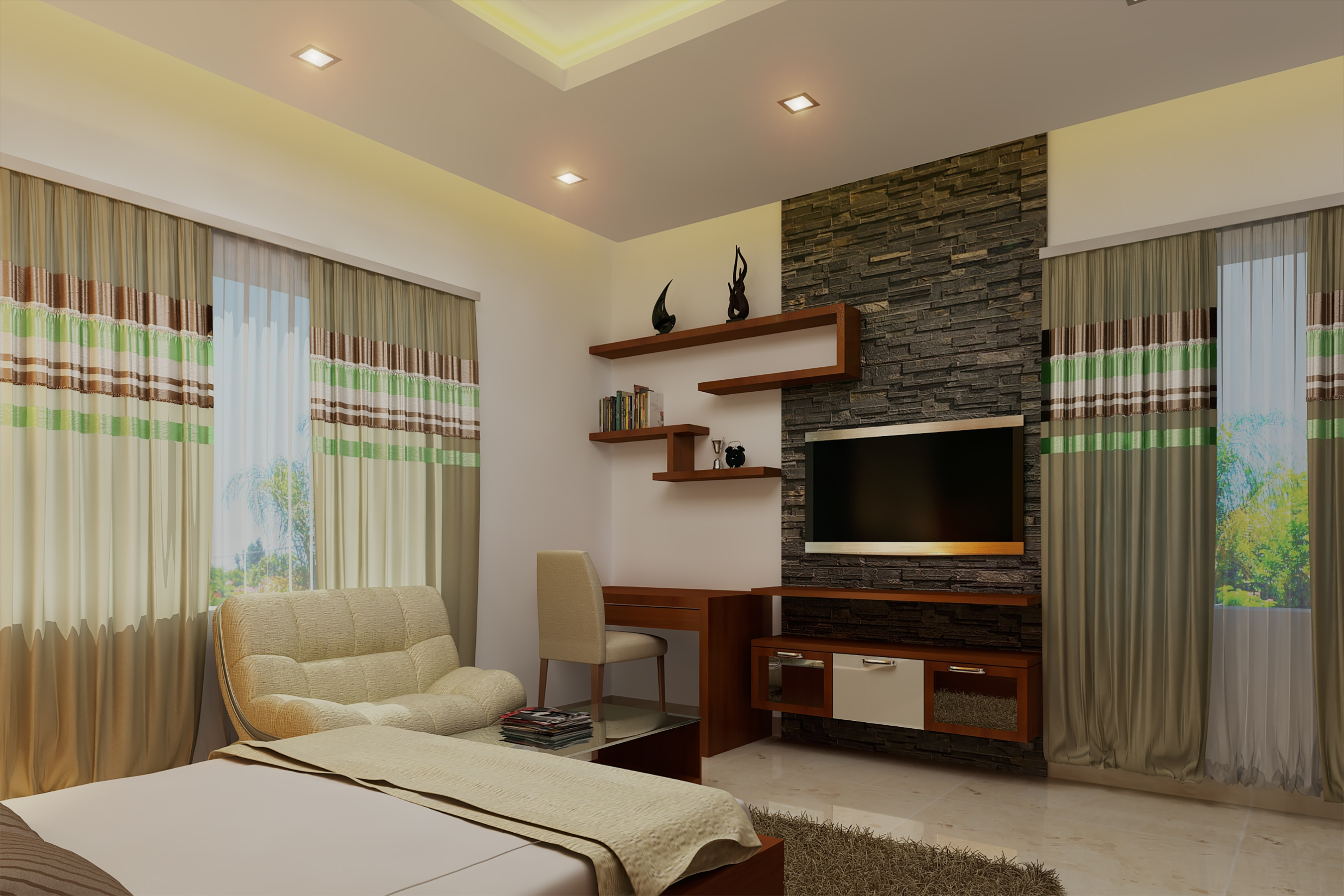 Lcd unit interior designing firm in kochi the latest contemporary trending style modern interior be