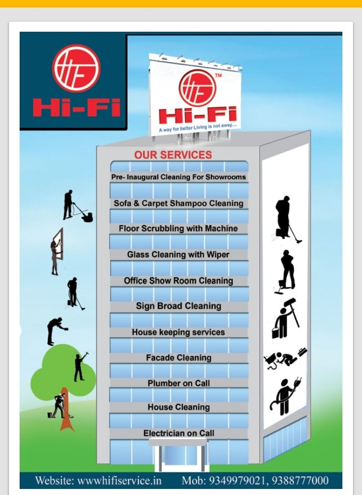 Hifi provides all type of cleaning requirements, housekeeping staff, electrician and plumber, especially  sofa and bed shampoo washing.