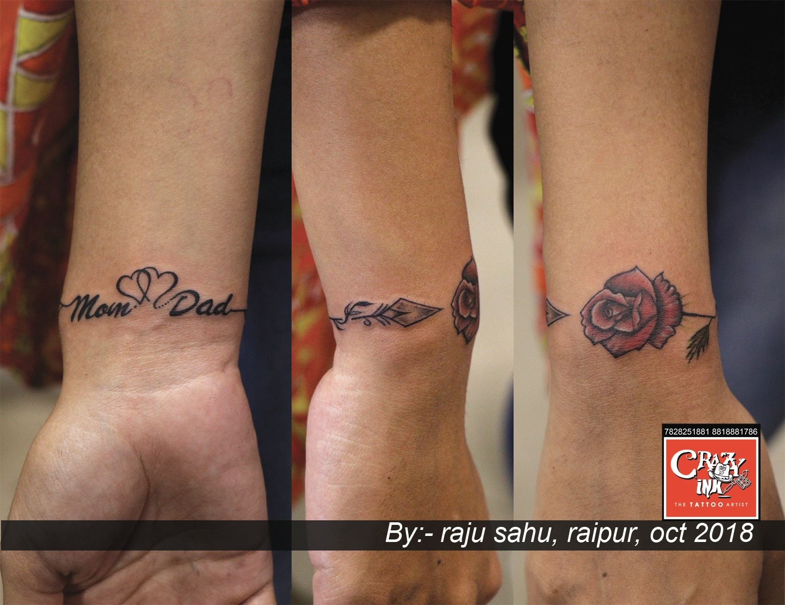This mom dad tattoo ideas   CRAZY INK TATTOO & BODY PIERCING in ...