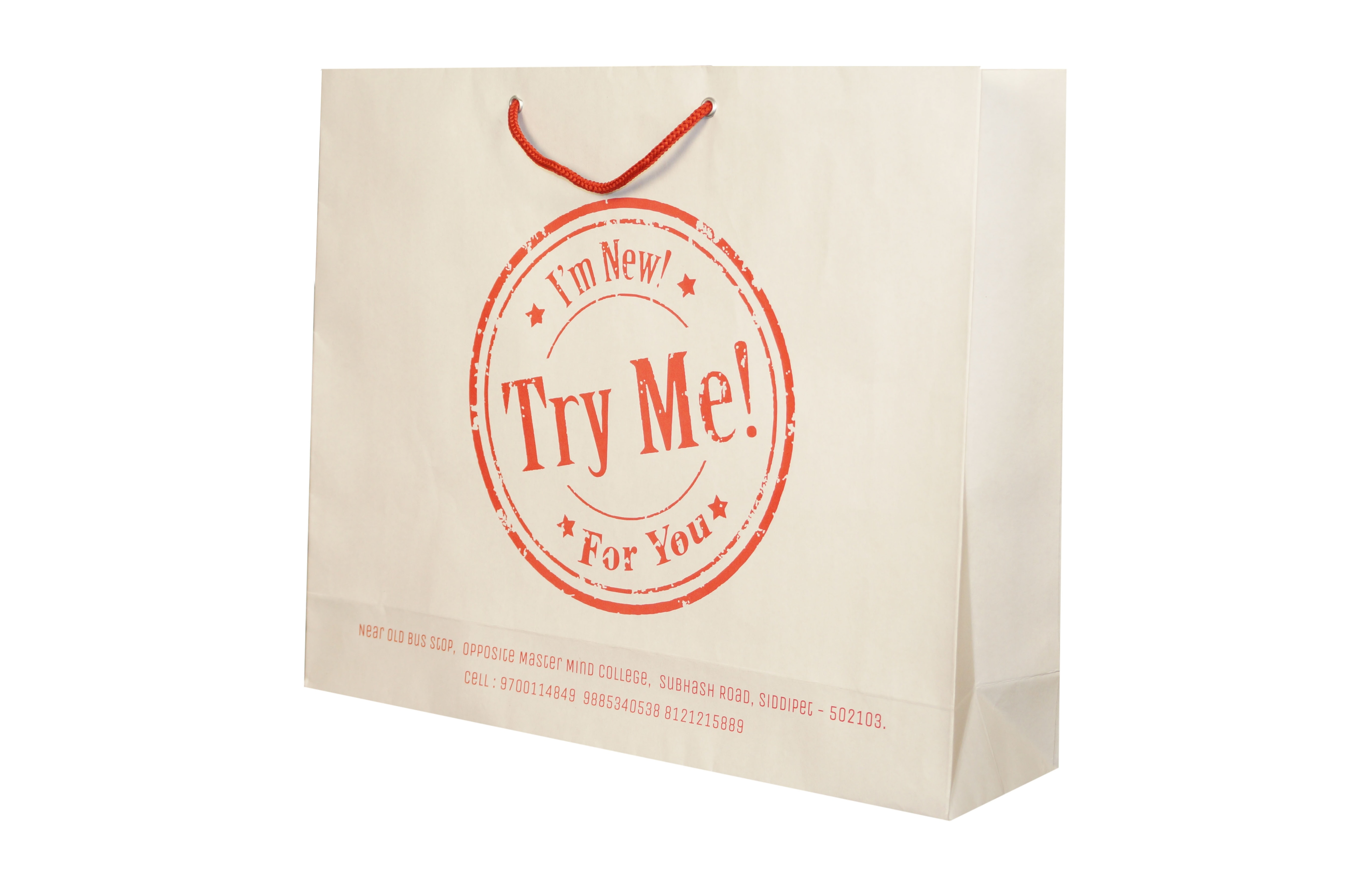 try our paper bags.