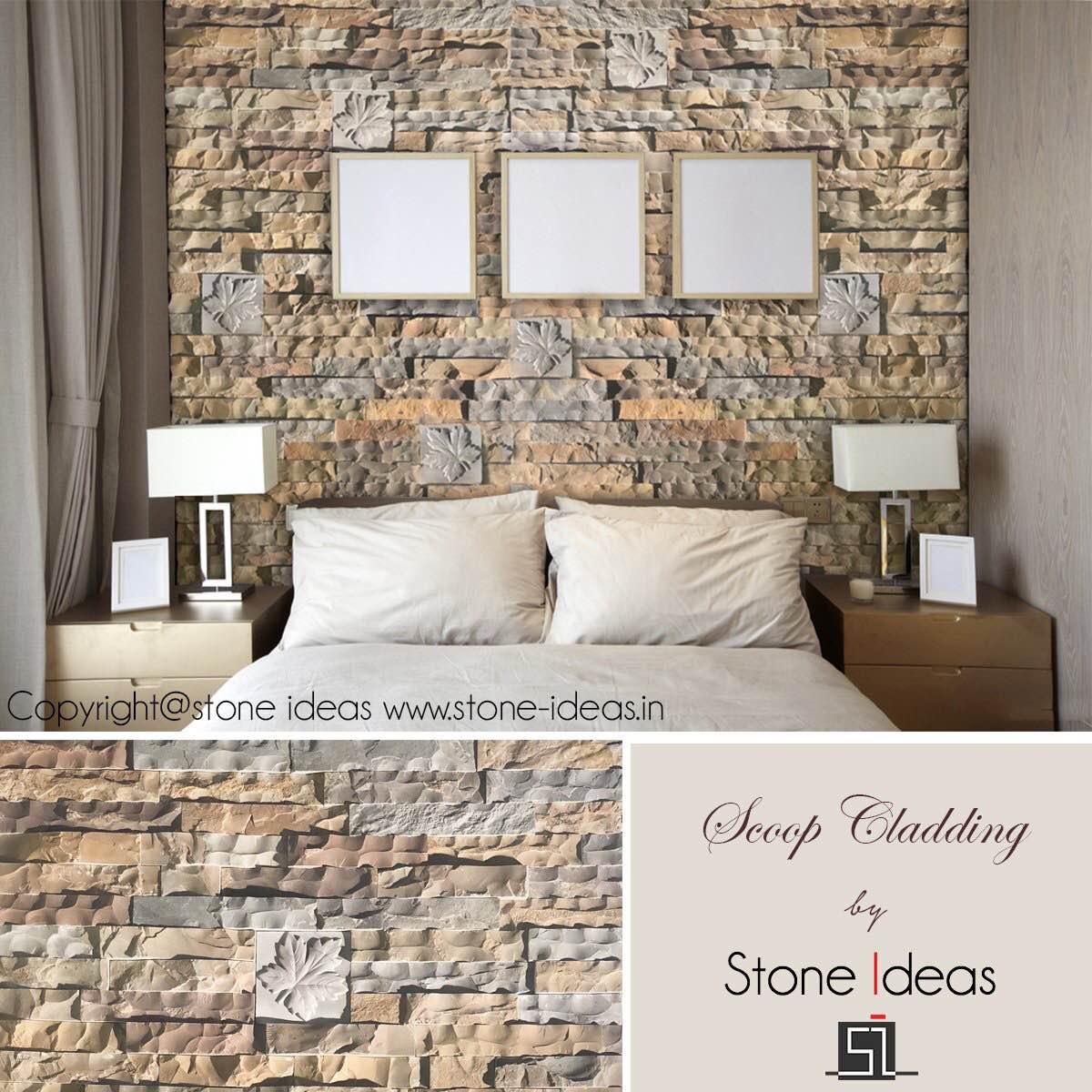 Dress up your wall with this new scoop cladding range.Explore Now!!#wallcladding #stonecladding #scoopfinish #walldecor#stoneideas #india