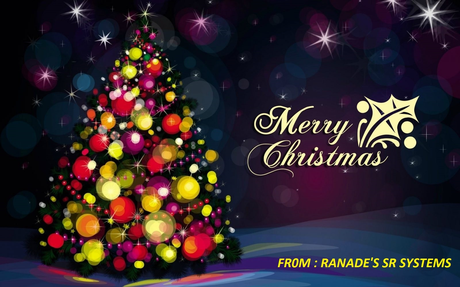 RANADE'S SR SYSTEMS WISHES YOU ALL MERRY CHRISTMAS.