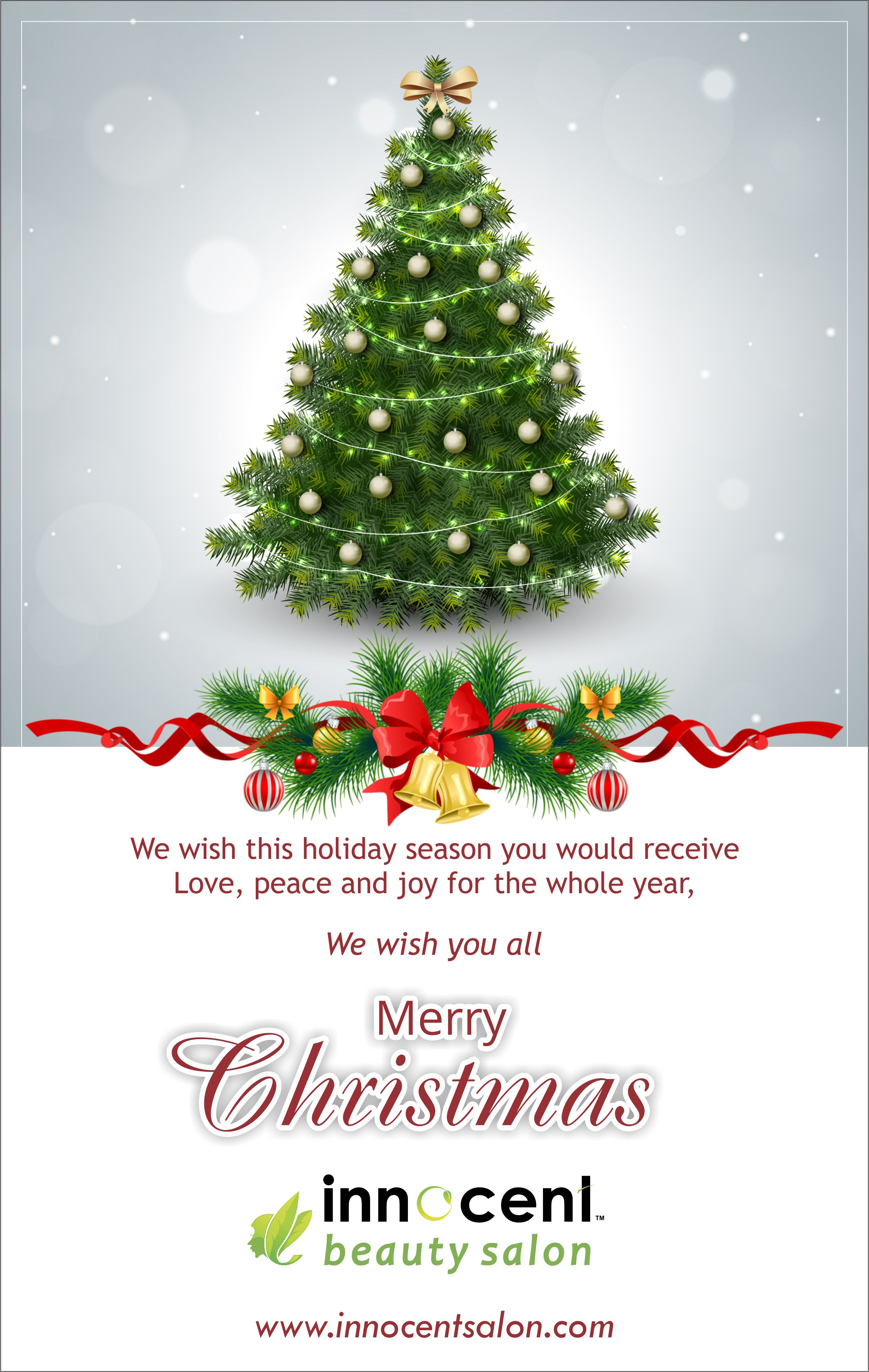 Christmas Beauty Salon.Christmas Is The Spirit Of Giving Without A T Innocent