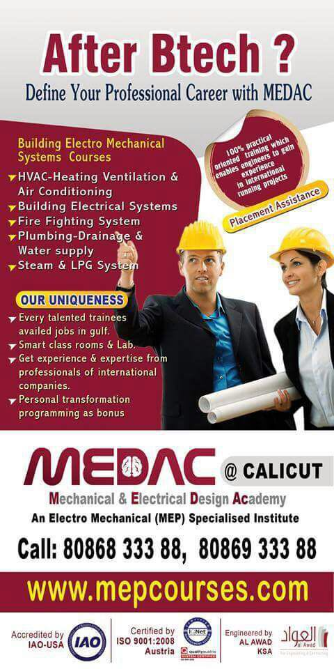 Leading Mep Academy in calicut , Kerala India | MEDAC MEP