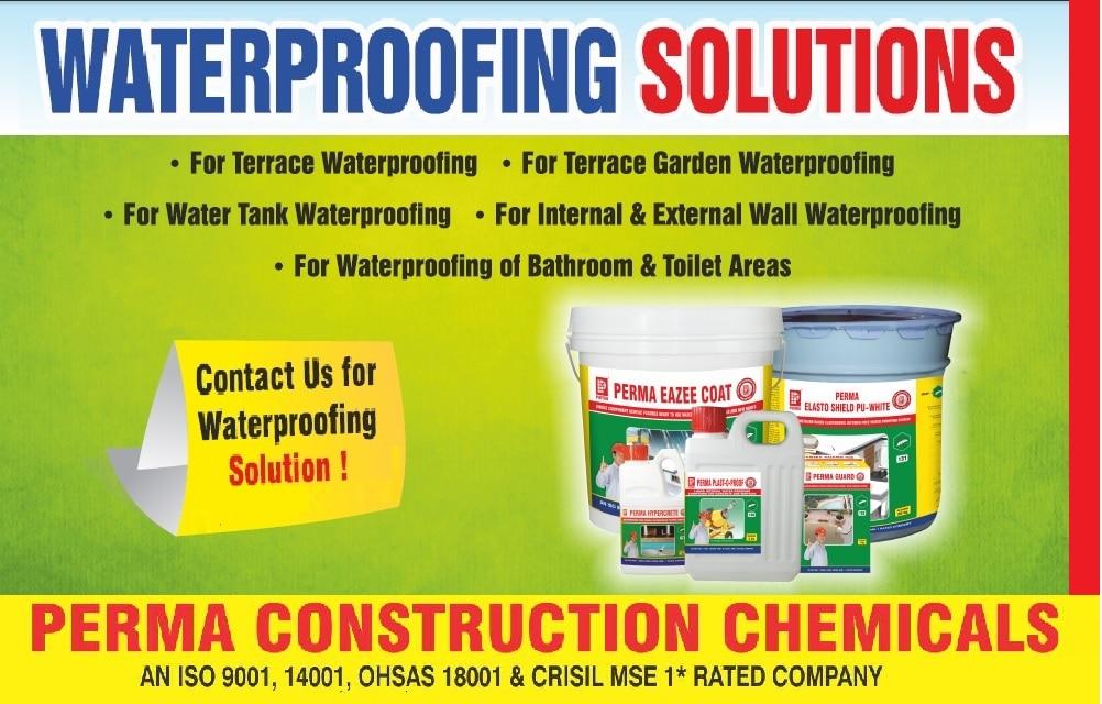 WATERPROOFING SOLUTION WITH WATERPROOFING ADMIXTURES, WATERPROOFING CHEMICAL, WATER PROOFING PRODUCTS , WATERPROOFING PRODUCTS. You can contact us on info@permaindia.com
