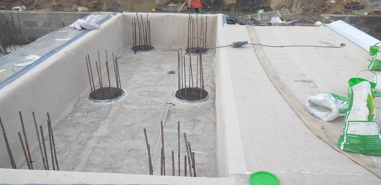 Cyber city project HDPE membrane work for bas | CS Water