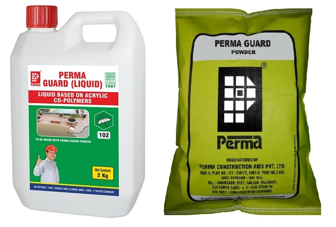 We are leading Waterproofing Construction Chemicals Manufacturer in India. Our various Waterproofing Chemicals used in Terrace Waterproofing , Brickbat Coba Waterproofing , Waterproofing for leak-proof areas , Water Tank Waterproofing, Basement Waterproofing. If you required Perma Construction Chemicals for construction you can send us an inquiry through our website. All products are available on our website https://permaindia.com/clients.html You can contact us on info@permaindia.com