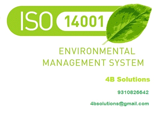 ISO 14001 is certification of environment man : 4B SOLUTIONS