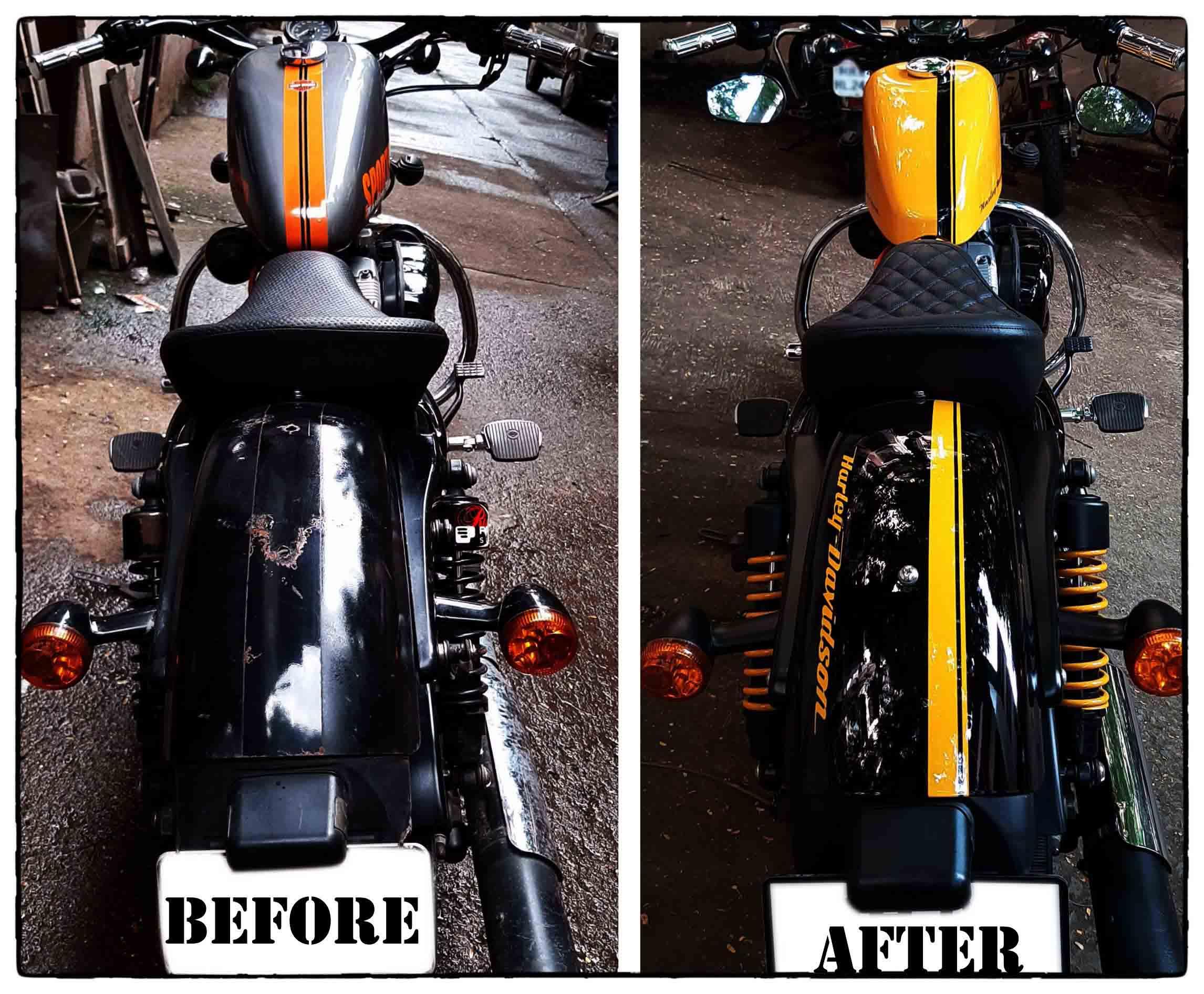 Harley Davidson Sportster 48 Custom Paint Job Forscher Customs
