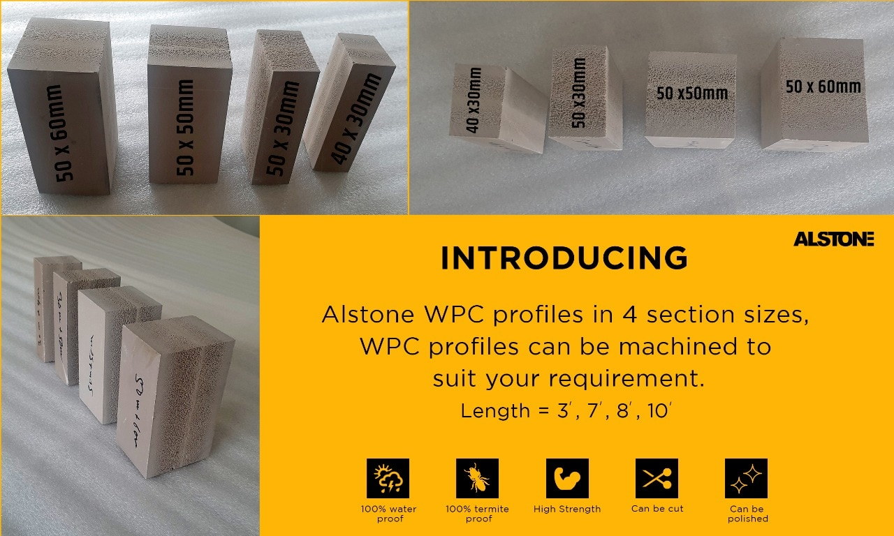 Please see these Alstone WPC profiles in 50x6 | India's