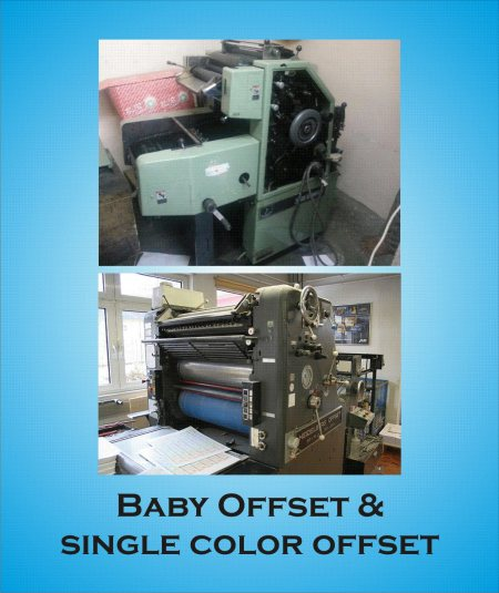 BABY OFFSET Machines are suitable for printing Office Stationery (Bill books, Delivery Challans, Voucher Books,  other minmum quantity printing stationery items  etc. etc, /   SINGLE COLOR OFFSET  Machines are suitable for printing Large Qu - by NATIONAL TECHNO PRINTERS, Hyderabad