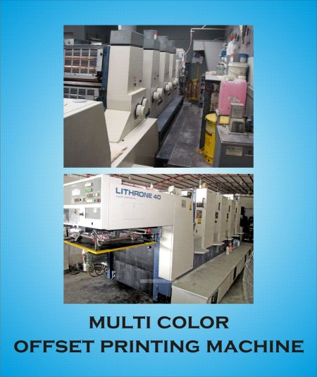 MULTI COLOR OFFSET MACHINES  are suitable for printing Brochures, Posters, Flyers, Books, Folders, Cartons, Danglers, Large quantity Visiting Cards, Letter heads, Stickers, Inserts, Files, Invitations, Labels, all the possible Sheet-Fed pri - by NATIONAL TECHNO PRINTERS, Hyderabad