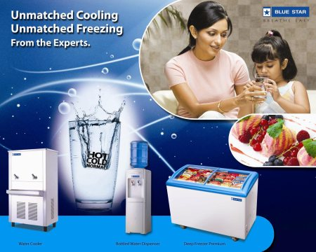 You will get all Blue Star water dispenser, water cooler, water chiller, cold rooms at our store.