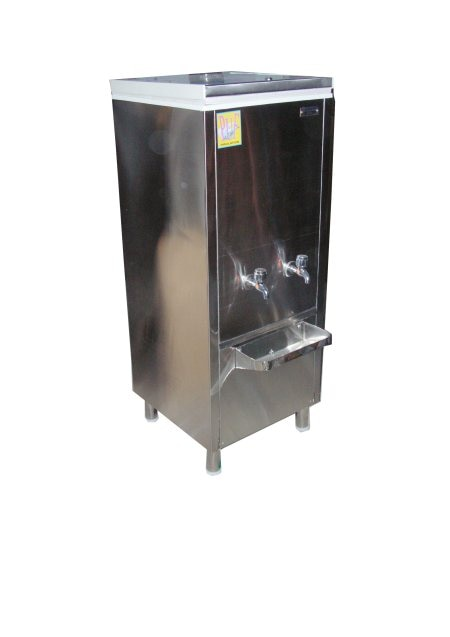 Water coolers of different capacities with total stainless steel starting from 20 litres to 500 litres capacity, 1 to 4 faucets, close lid. We manufacture as per your requirement with door spring hinges, top provision for water bottles, stainless steel legs, Mirror or Matt finish stainless steel.