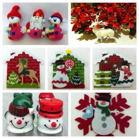 #Red #Green #White #Christmas #Decoratives - by dEsI sOuL, Bangalore