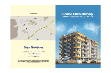Raavi Residency Broucher Page 1  - by Raavi Residency Apartments, Hyderabad