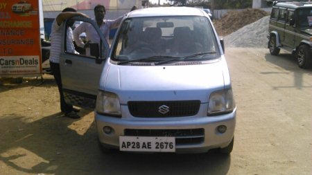 2002 used wagonR Vxi MB Silver color second Owner Rs.135000/- - by CarsnDeals, Hyderabad