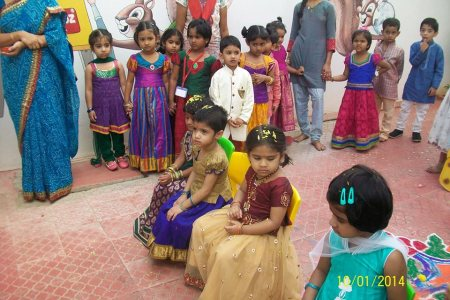 celebrating sankranti celebrations at Smartkidzplayschool - by Smartkidz playschool, Hyderabad