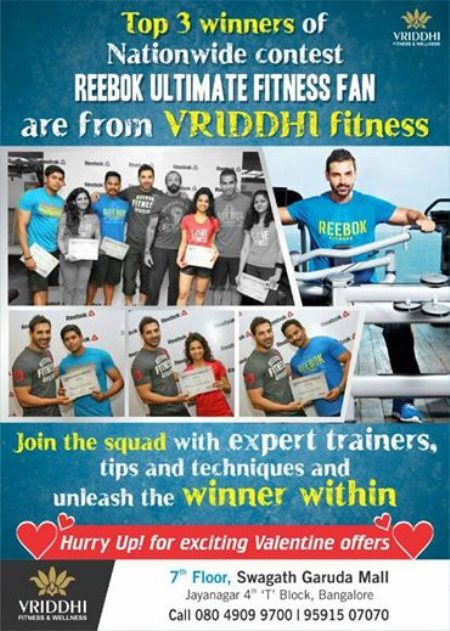 Hurry Up for exciting Valentines offer at our Gym !!! - by Vriddhi, Bangalore