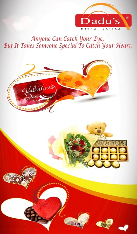 Special VDay Chocolate Bouquets, Hampers and Lots More Chocolate Packs Available at Dadu's : Himayathnagar Hyderabad; MG Rd Secunderabad and Rd 36, Jubilee Hills! Makes this Valentine, Special for Special Ones !  Happy Valentine's Day! - by Dadu's Mithai Vatika, Hyderabad