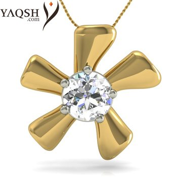 Why choose between diamonds and flowers when you can gift her both with the Flowery Affair diamond pendant ? - by Yaqsh.com, Delhi