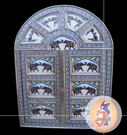 Handicraft Door Furniture - We are exporter and manufacturer of handmade door, we deal in handcrafted door like Bone inlay doors, white metal door, brass door, wooden door, silver door etc. Here you can find restaurant door, hotel door, ant - by Jai Shri Marble Arts, Udaipur