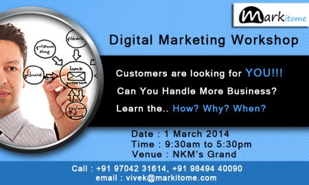 Customers are looking for you... Join the Digital Marketing Workshop and become an expert in driving traffic to your business... For more details on the workshop, contact Vivek at +919704231614 or send an email to vivek@markitome.com. You c - by Markitome, Hyderabad