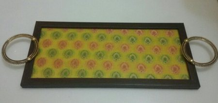 #Desi #Brocade #Yellow #Tray Serve guests in style or enjoy breakfast in bed, a perfect dining accessory for your home!