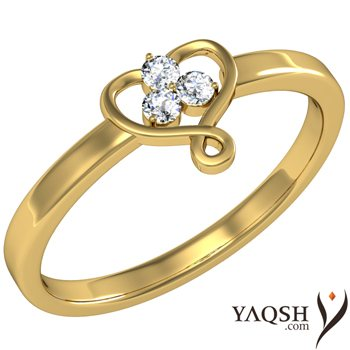 The Twisted Fairytale diamond ring from Yaqsh.com - Proof that fairy tales do come true ! - by Yaqsh.com, Delhi