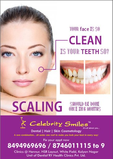 Get specialized services in dental only at celebrity smiles - by Celebrity Smiles, Bangalore Urban