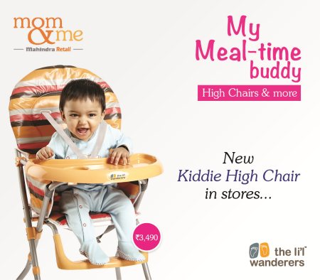 Meal time for your baby becomes more fun! Mom & Me have just introduced new HIGH Chair Collection , in vibrant colors and designs . Rush to nearest Mom & Me stores - by Mom & Me - SGS Mall, Pune