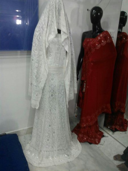 Some of our new collections in Bridal Wears in Lucknowi Chikan Models. - by Meenakshi Lucknow Chikan Workshop, Hyderabad