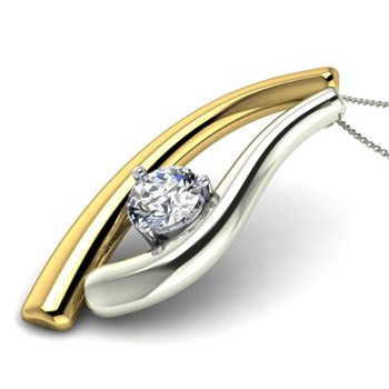 The Congeniality diamond pendant - Representing the perfect harmony of your love.   - by Yaqsh.com, Delhi