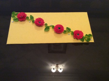An elegant colourful envelope for your near and dear ones. - by Alankriti Creation, Delhi