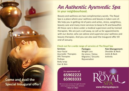 Ayurvedic Shiridhara - A great way of relating your mind and Body - by The Royal Spa, Bangalore