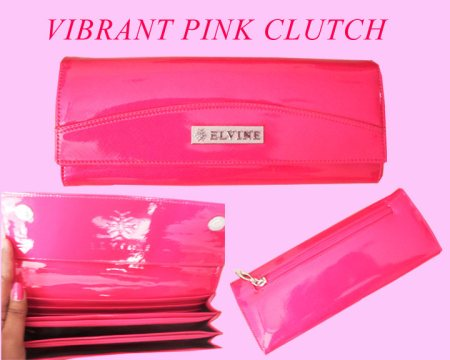 VIBRANT PINK CLUTCH - by ALPINE - The Fashion & Art Store, Hyderabad