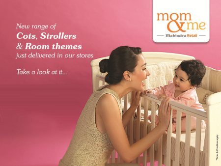 Mom & Me has introduced a new range of products like High Chairs, Cots, Strollers, Nursery and Room Themes. Have a look at the new range catalog. Click here http://www.momandme.in/resources/mom-and-me/catalogue/New_Arrivals_Hard_Goods_2014.pdf