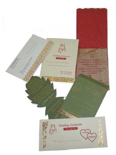 Printing on any shape Wedding Cards - by Shabdkosh Digitals, Bangalore