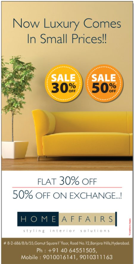 Sale at HomeAffairs - by Home Affairs - Styling Interior Solutions, Hyderabad