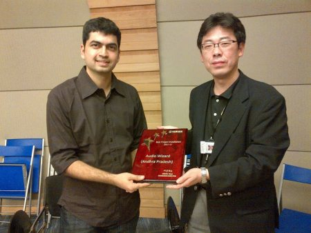 Received all over INDIA Best Installation Award from Yamaha Music India Pvt Ltd. - by Audio wizard, Hyderabad