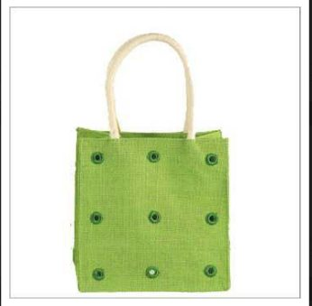 Printed jute beaded bags - by Video Generation Demo, Chamarajanagar
