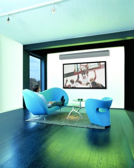 dnp home theatre screens are optimized for modern home theatre projectors and offer up to 7 times the contrast and double the image brightness of standard front projection screen. # best home Automation Hyderabad - by Mahavir Sound Room, Hyderabad