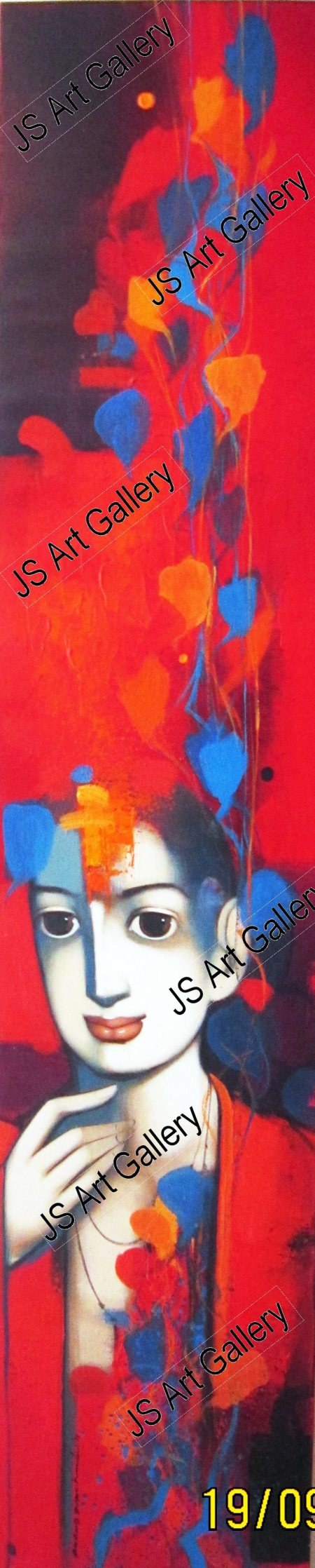 Beauty, boldness, brightness and gorgeousness are some of the trademarks of Anand Panchal's works. Best known for his figurative artworks, Panchal has over the years developed an unique style of his own, mostly paints Brahmins, and children - by JS Art, Mumbai Suburban