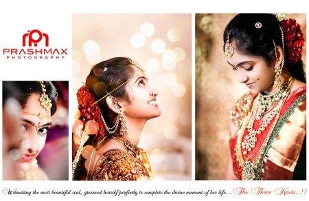 Bridal Photo Shoot Photographers and Marriage Videographers are available 24/7. - by Prashmax Photography, Hyderabad
