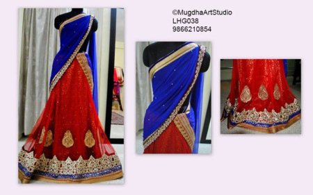 Designer Wear Lehanga Cholis  available @Mugdha. - by Mugdha Art Studio, Hyderabad